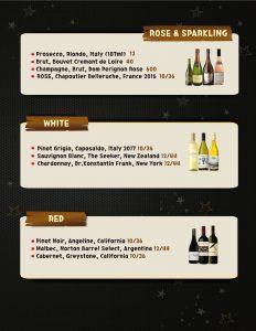 Lets Meat Wine List